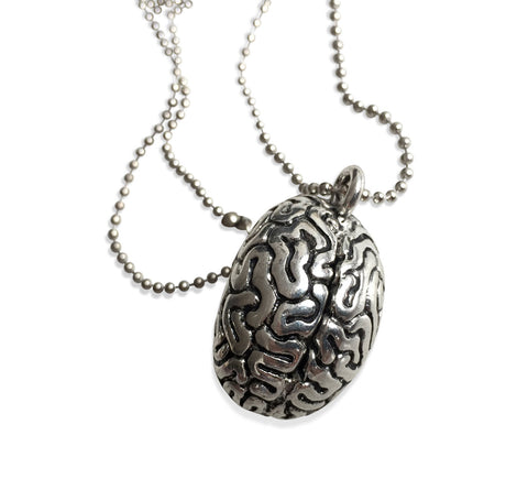 Anatomical Brain Pendant Necklace, Well Done Goods