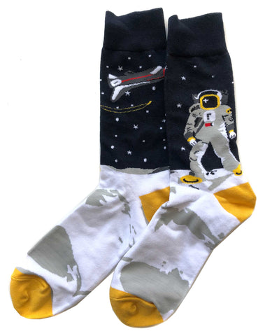 Astronaut on the Moon Socks
