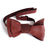 Oxblood Red Perforated Automotive Leather Bow Tie