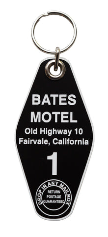 Bates Motel Keychain Tag, Room 1, Black and White, by Well Done Goods
