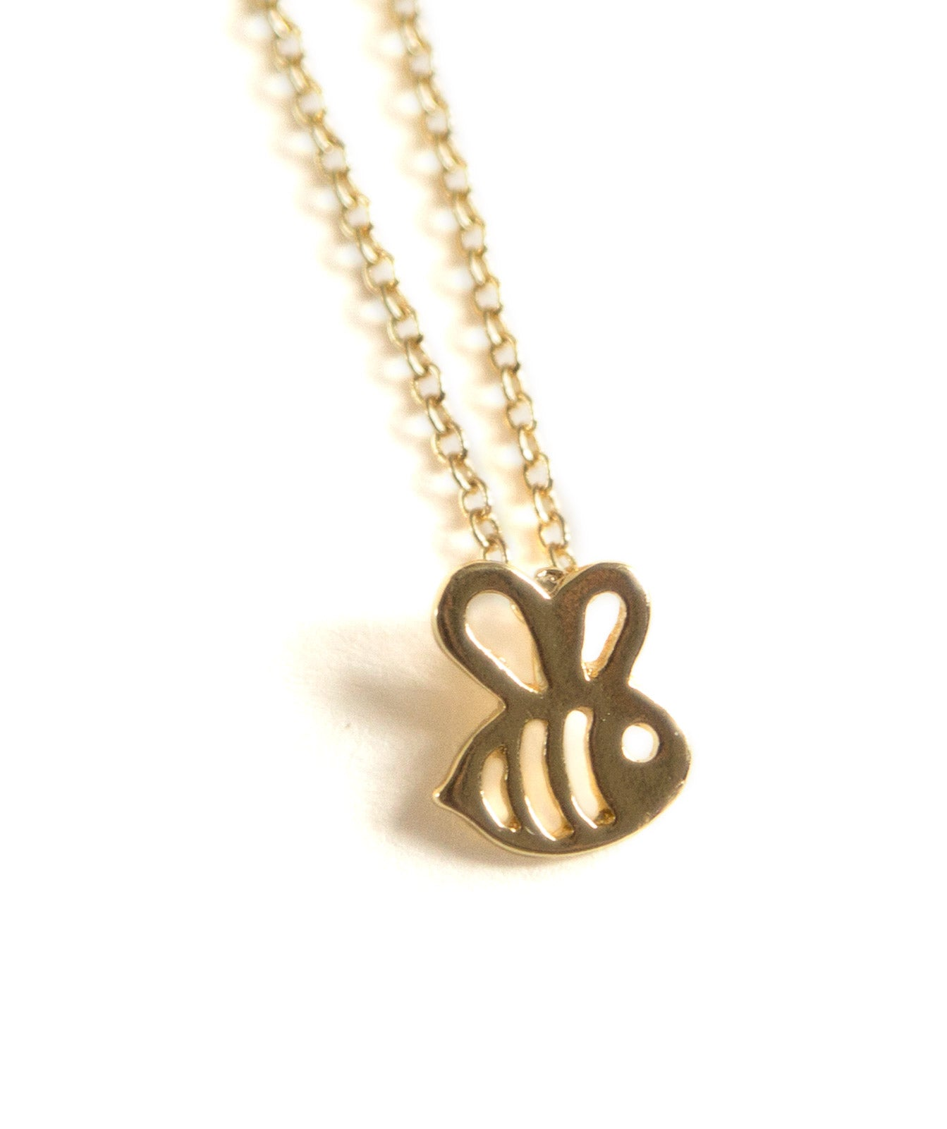 Bee pendant necklace well done goods bee gold pendant necklace well done goods aloadofball Images
