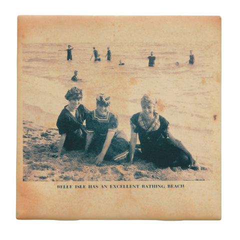 Belle Isle Bathers Drink Coaster, Well Done Goods