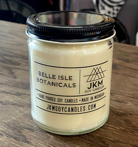 Belle Isle Botanicals Candle: JKM Soy Candles - Large 9oz Size