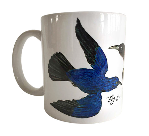 Birds Print Mug, Natural History Coffee Cup, Well Done Goods