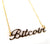 Gold Bitcoin Script Necklace, Cryptocurrency Pendant,  by Well Done Goods