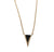 Gold Triangle with Black Inlay Pendant Necklace, by Well Done Goods