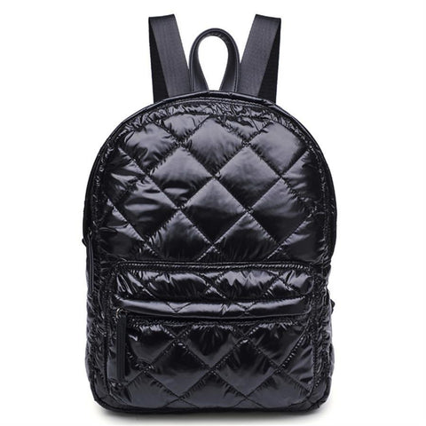 Quilted mini backpack, classic black.  Well Done Goods