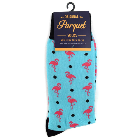 Pink Flamingo Socks. Men's Fancy Socks, by Parquet
