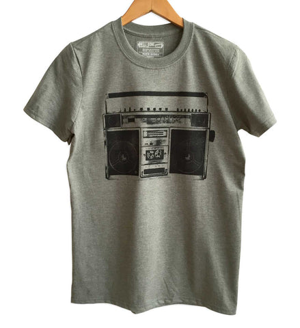 Boombox Heather Olive T-Shirt, Well Done Goods