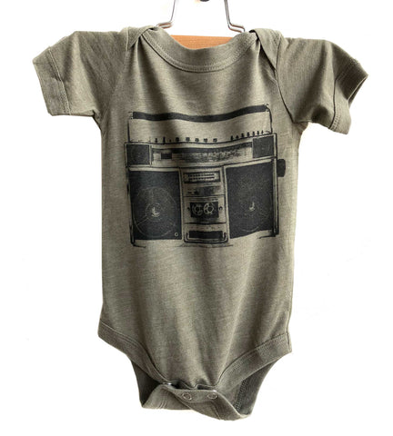 Boombox Infant Bodysuit, Vintage Radio Creeper