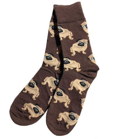 Brown Pug Socks, Cute Doggo Socks! Well Done Goods