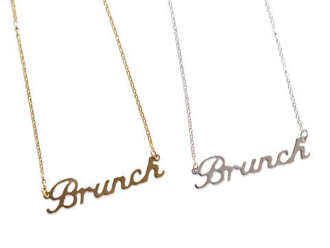 Brunch Script Necklaces, Well Done Gods