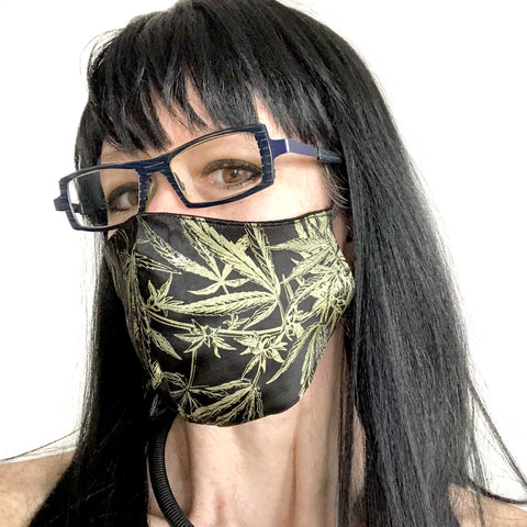 MaryJane Face Mask, washable botanical print fashion fabric face cover