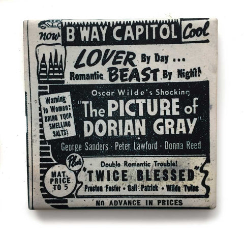 Capitol Theater Detroit, Pulp Movie Print Drink Coaster, Well Done Goods