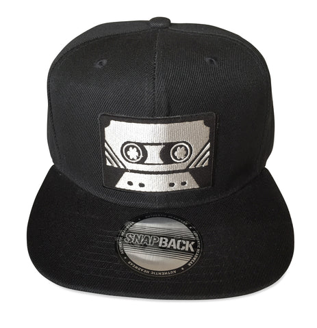 Cassette Tape Snapback Cap, Black. Well Done Goods