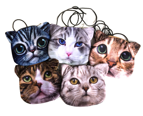 Small Cat Face Purses, by Well Done Goods