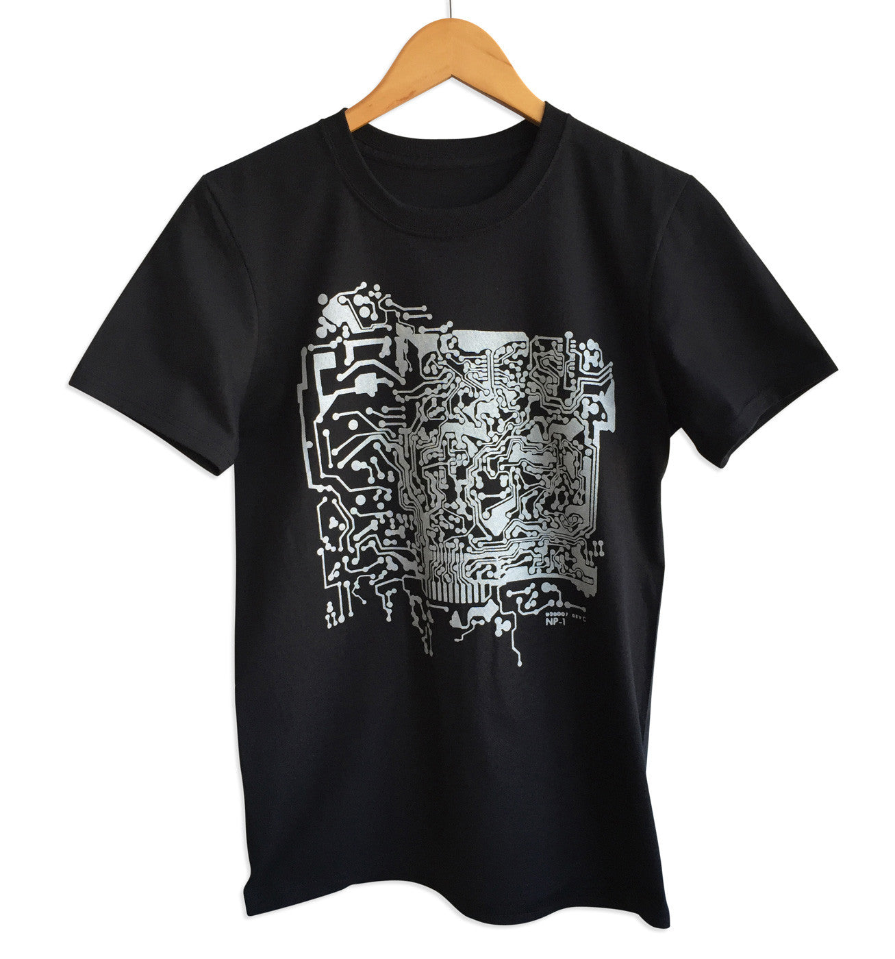 circuit board print t shirt well done goods by cyberoptix