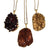 Citrine Druzy Raw Stone Pendants, Well Done Goods