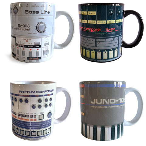 Classic Vintage Roland Mugs, Set of 4 Coffee Cups