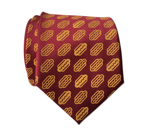 Coney Dog Tie, Hot Dog Party Printed Necktie