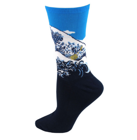 Crashing Waves Women's Woven Socks, Well Done Goods