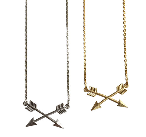 Crossed Arrows Necklace, by Well Done Goods