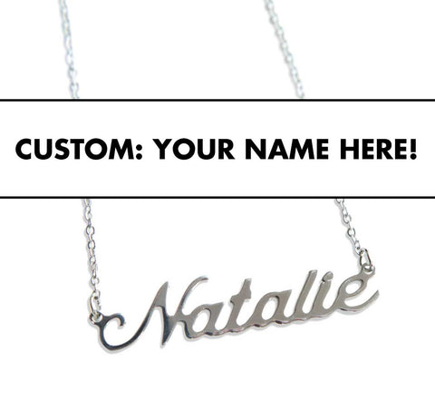 Custom Script Necklace. Personalize with your name or favorite thing