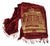 Burgundy and gold Detroit Opera House Scarf, Cyberoptix