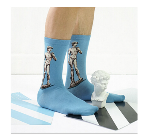 David Statue Women's Woven Socks, Well Done Goods