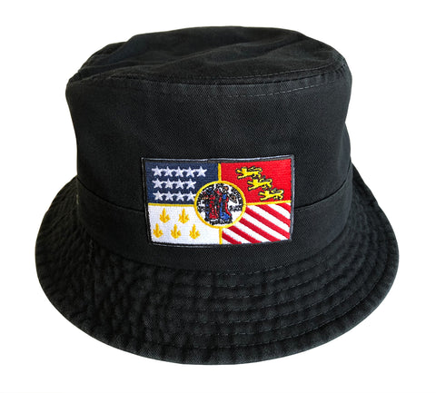Detroit City Flag Black Bucket Hat, Well Done Goods