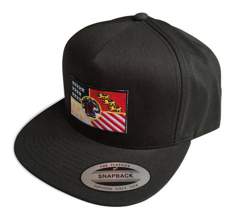 Detroit City Flag Snapback Cap, Black. Well Done Goods