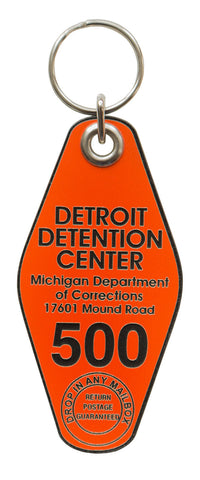 Detroit Detention Center Motel Style Keychain, Well Done Goods