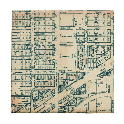 Eastern Market Map Drink Coaster, Well Done Goods