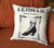Vintage Shoe Print Throw Pillow, Fyfe Detroit Advertising Print. Well Done Goods by Cyberoptix