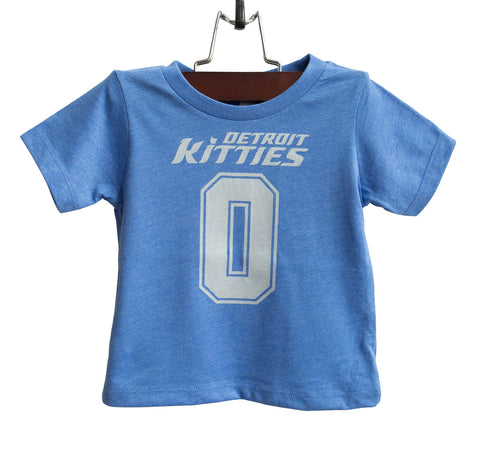 Detroit Kitties Toddler T-Shirt, Lions Football Tee, Well Done Goods