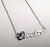 Detroit Music Script Necklace, Electro. Silver nameplate