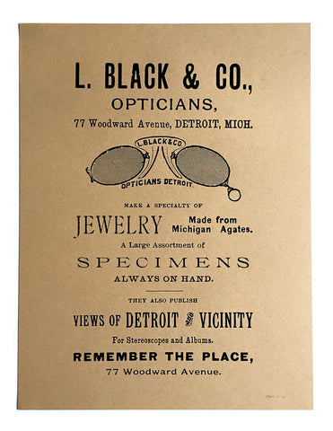 Detroit Optician Screen Printed Poster, Vintage Advertisement, Well Done Goods by Cyberoptix