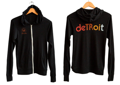 Detroit Rhythm Composer Lightweight Triblend Jersey Zip Hoodie, Well Done Goods