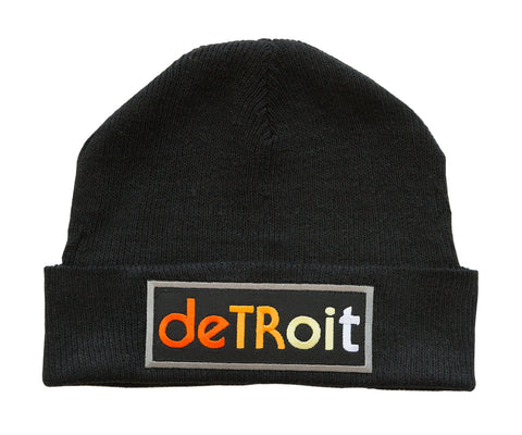 Detroit Rhythm Composer Black Beanie Cap, Well Done Goods