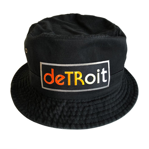 Detroit Rhythm Composer Black Bucket Hat, Well Done Goods