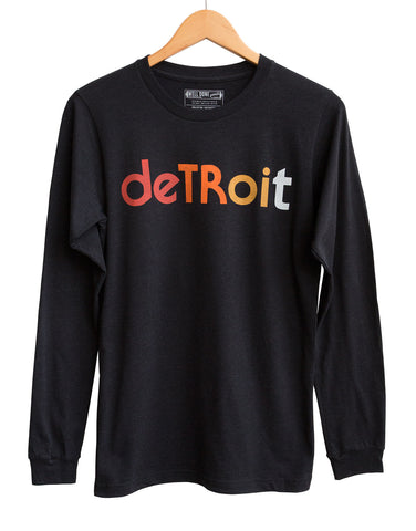 Detroit Rhythm Composer Long Sleeve Shirt, Black Heather. Well Done Goods