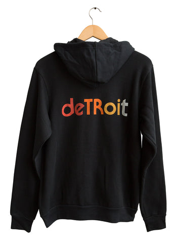 Detroit Rhythm Composer Zip Hoodie. Unisex, Vintage Style, Well Done Goods