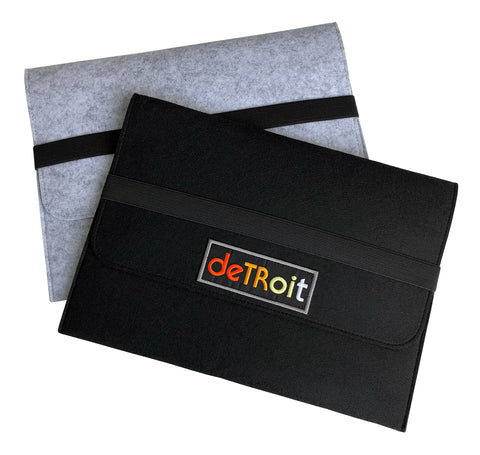Detroit Rhythm Composer Vegan Felt Laptop & Tablet Sleeve, Elastic Closure, Well Done Goods