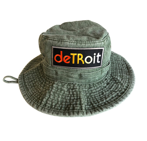 Detroit Rhythm Composer Olive Green Bucket Hat, Well Done Goods