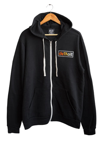 Detroit Rhythm Composer Patch Zip Hoodie. Unisex, Vintage Style, Well Done Goods
