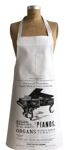 Piano Print Advertisement Chef Apron