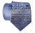 Detroit Blueprint Necktie, MCS Train Station, steel blue. Cyberoptix Tie Lab