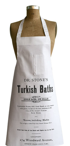 Dr. Stones's Turkish Bath Advertisement Chef Apron