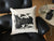 Detroit Typography Throw Pillow, silkscreened cotton. Well Done Goods by Cyberoptix