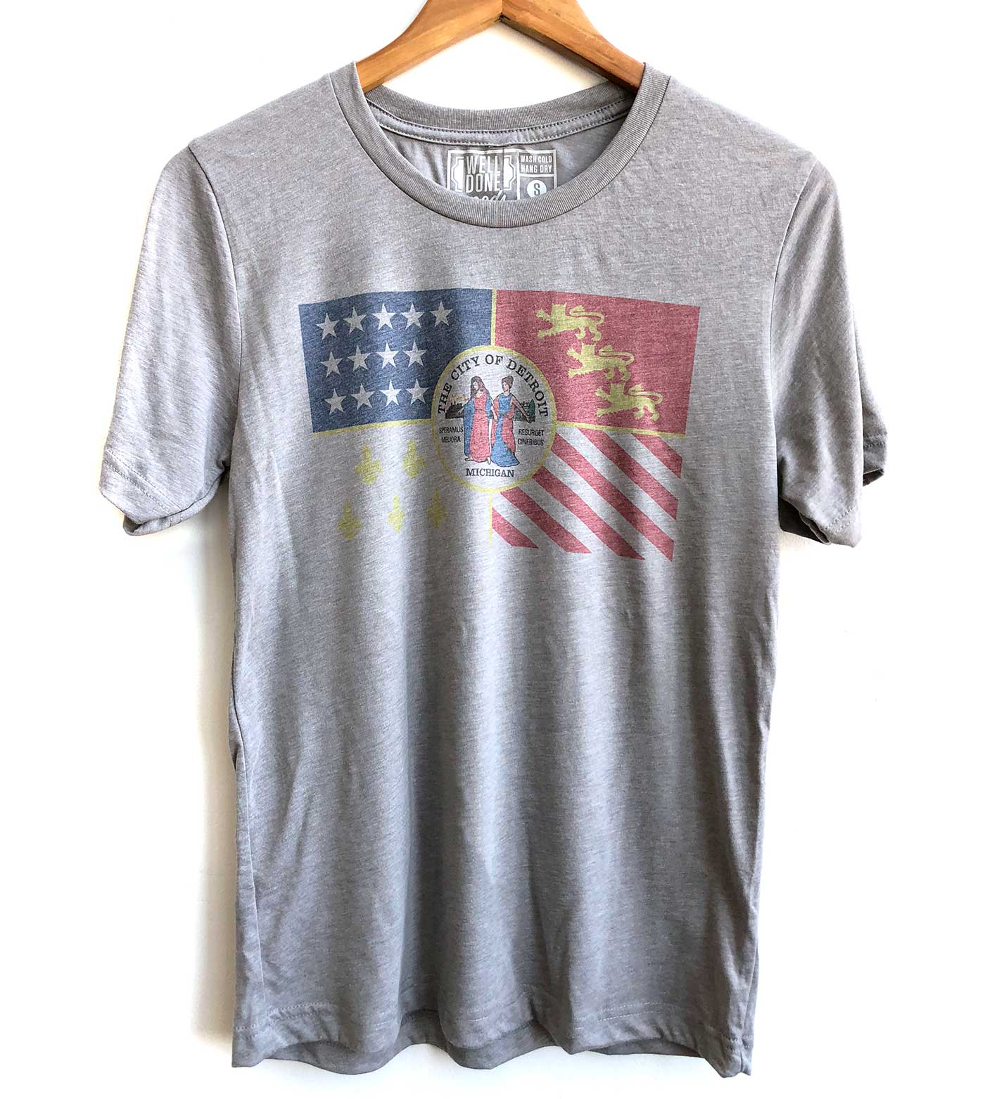 e57bed07c Detroit City Flag Vintage Style T-Shirt